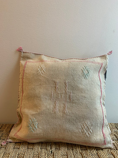 square eclectic cactus silk cushion
