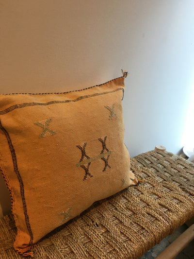 yellow moroccan eco friendly pillow
