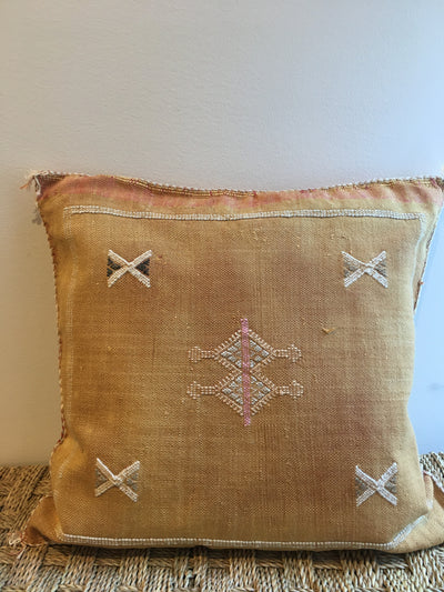 orange decorative handmade pillow