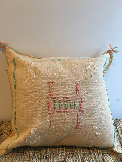 yellow moroccan handmade pillow