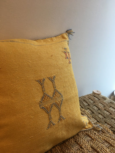 square handmade moroccan pillow
