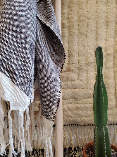 light gray warm cotton blanket bedspread bedsheet bed throw blanket with tassels