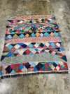 colorful vintage kilim boucherouite rug