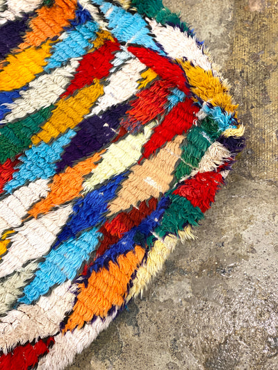 colorful contemporary vintage floor pillow