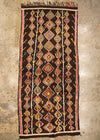 vintage moroccan hall rug brown diamond colour