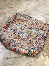 moroccan boucherouite floor pillow