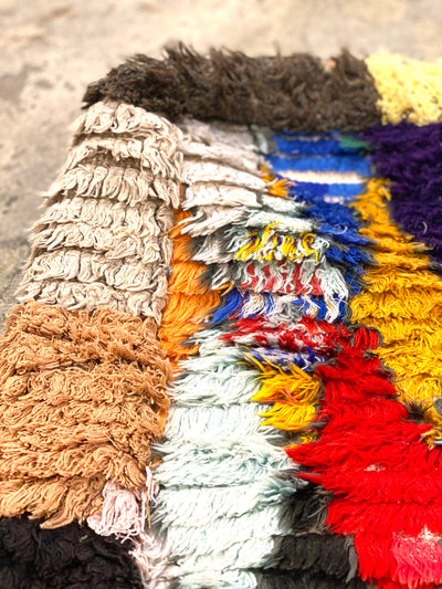 close up on colorful wool details