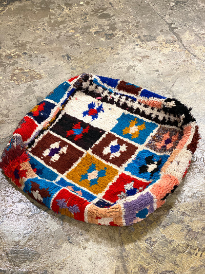 square bohemian eco friendly footstool