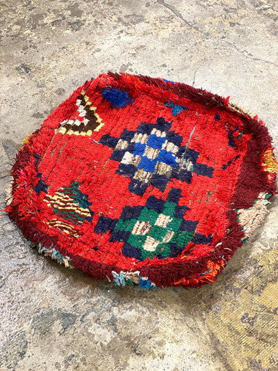 moroccan vintage red floor pillow