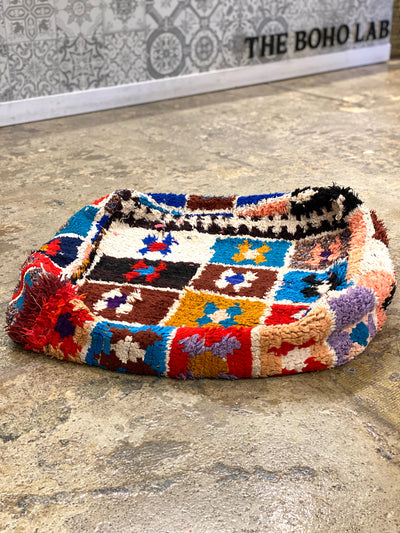 colorful moroccan vintage floor cushion