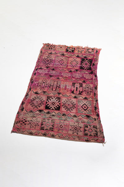 vintage moroccan rug  - purple and pink antique bohemian carpet