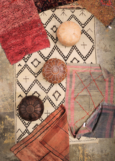 patchwork of moroccan rug making a moroccan decor simple and boho chic