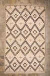 vintage moroccan rug black diamond cross black contour the boho lab