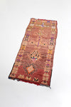 vintage moroccan runner rug with tribal design - orange antique bohemian runner carpet