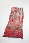 vintage moroccan rug with tribal designs - red tassel runner carpet