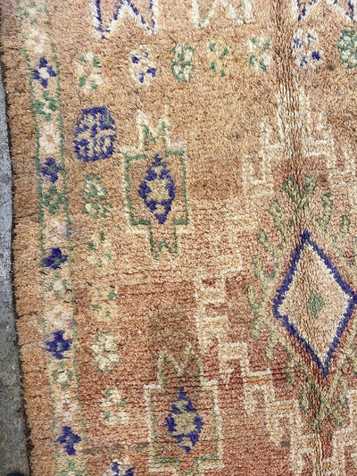 vintage moroccan rug, wool carpet, bedroom rug, living room rug with vibrant colors and tribal design