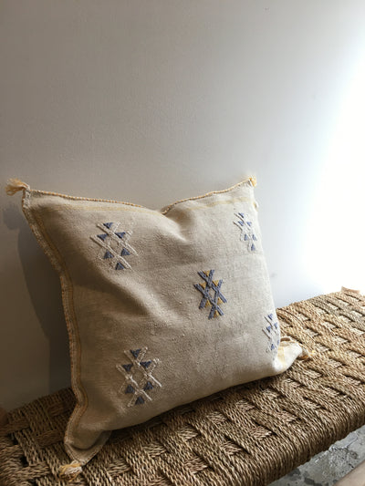beige sabra pillow with tribal designs