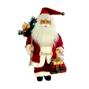 Musical Traditional Santa 60cm - with Lights