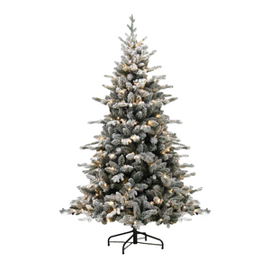 Artificial Flocked White Tree 150cm with LEDs