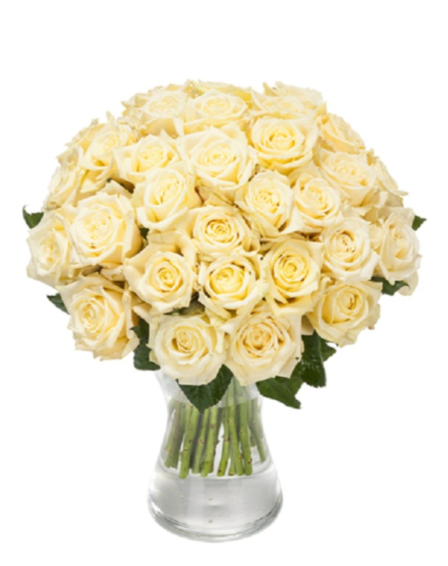 Bouquet Roses Blanches Courtes