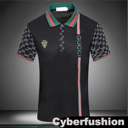 2017 G & G Bur fashion men's new summer Euro US leisure pants collocation lapel POLO t shirts for men snake bee Italy Tiger polo shirt