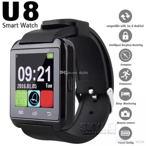 Bluetooth U8 Smartwatch Wrist Watches Touch Screen For iPhone 7 Samsung S8 Android Phone Sleeping Monitor Smart Watch With Retail Package
