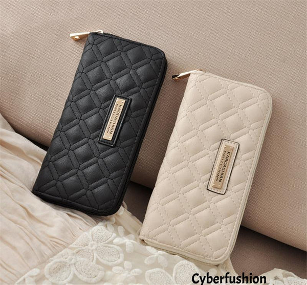 Hot sell Fashion KK Wallet Long Design Women PU Leather Kardashian Kollection High Grade Clutch Bag Zipper Coin Purse Handbag girl gift
