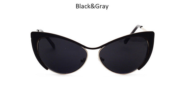 Classic Cat Eye Sunglasses For Women Mirror Sun Glasses Fashion Female Sunglasses