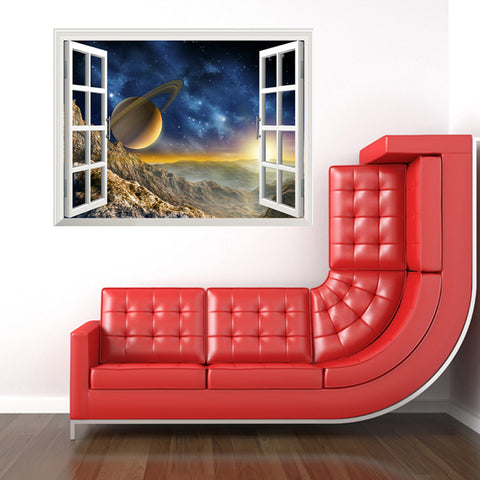 Star Home Decor Art Fake Window New Wall Removable Stickers