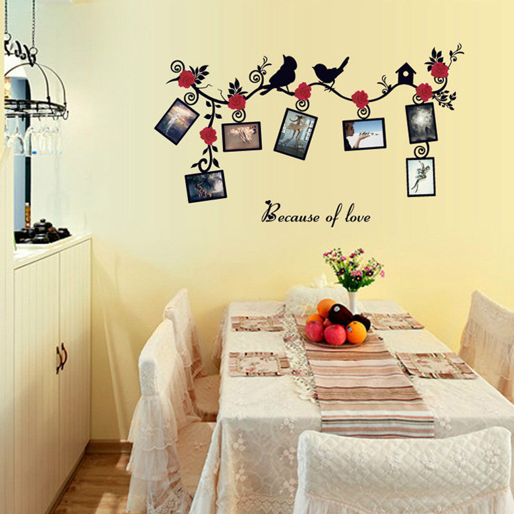 DIY Removable Photo Bird PVC Wall Decal Family Home Sticker Mural Art Home Decor