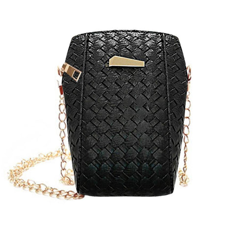 Xinui women messenger bag small leather handbag Slim Weave womens bag small cross body chains shoulder bags bolsa feminina #6M
