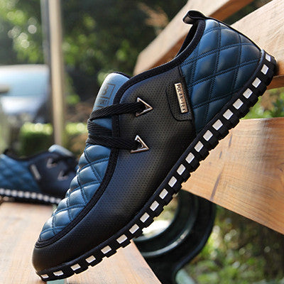 2017 new Fashion korean leisure men shoes spring men footwear autumn PU leather men flat shoes breathable casual men's flats