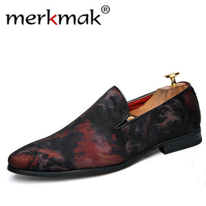 Merkmak Man Shoes Luxury 2017 Men Loafers Brand Casual Elegant Red Navy Fashion Men's Shoes For Office Wedding Party