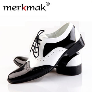 Mermak Pointed Toe Business  Wedding Men's Shoes Fashion Oxfords Glossy Casual Comfortable Soft Men Footwear Zapatos  Wholesales