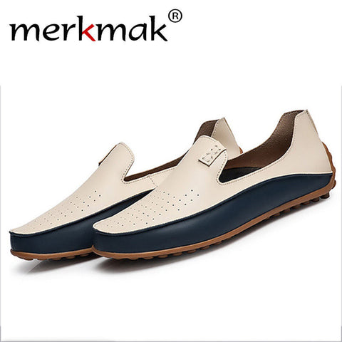 Merkmak Newly Men Shoes Trendy Big Size 38-47 Casual Driving Loafer Summer Holes Footwear Breathable Man Soft Moccasin Wholesale