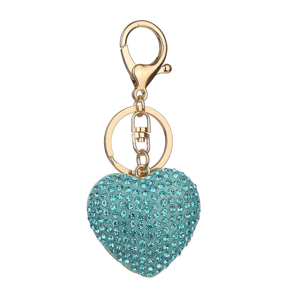 Love Rhinestone Keychain Bag Handbag Key Ring Car Key Pendant