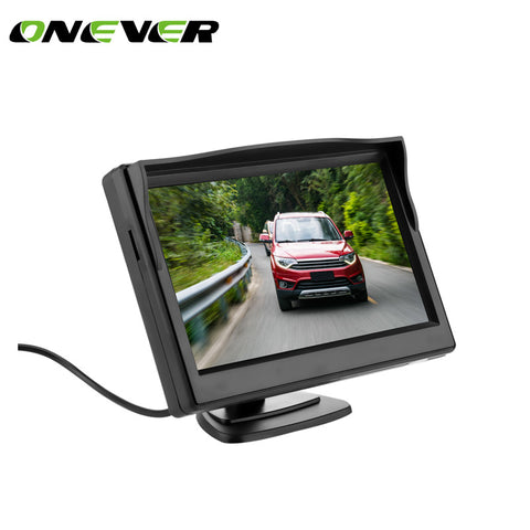 5 Inch TFT LCD Rear View Display Monitor + Waterproof Reversing Backup Rear View Camera High Quality Car Monitors