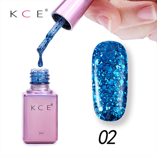 New Arrival Gel Nail Manicure 6ml Diamond Glitter Nail Polish Sequins Gel Nail Good Quality