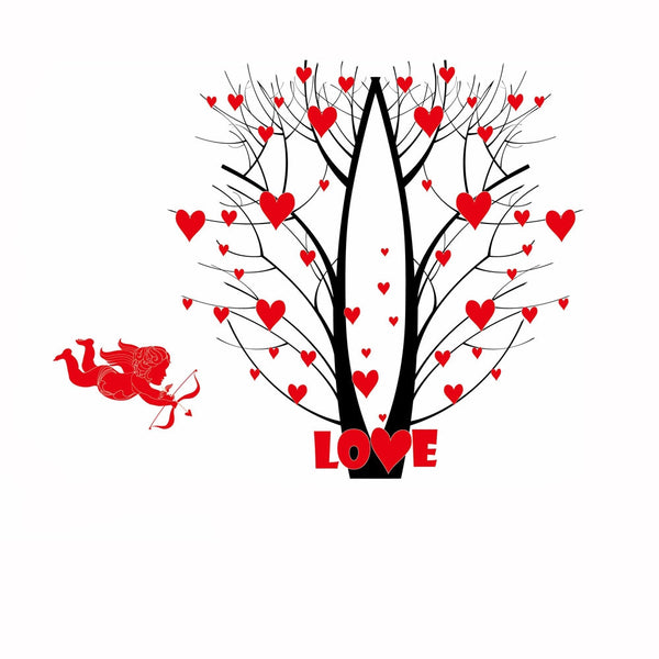 Cupid Arrow Love Tree Wall Stickers Art Decals Mural DIY Wallpaper for Room Decal 60 * 90cm