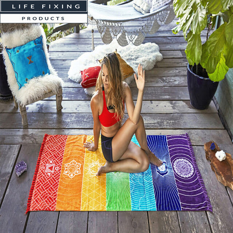 Yoga Life Fix Mandala Rug