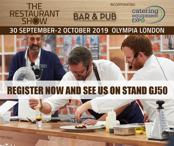 Visit us at The Restaurant Show 2019