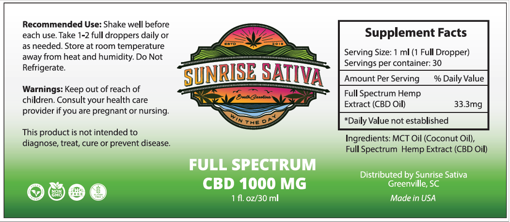 Full Spectrum CBD Tincture 1000mg/30ml