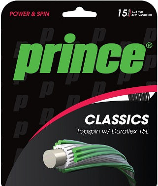 Prince Topspin with Duraflex tennis string