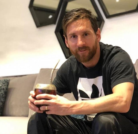 The world's most famous yerba mate drinker, Lionel Messi.