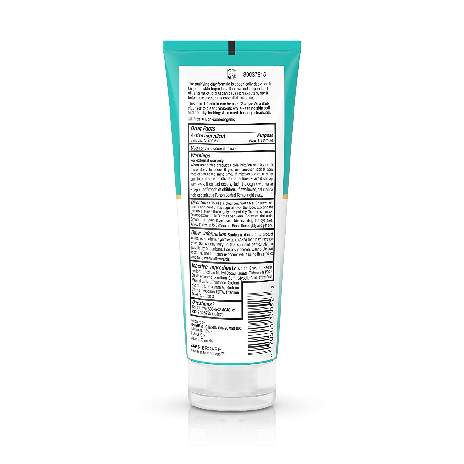 Neutrogena Deep Clean Purifying Clay Face Mask