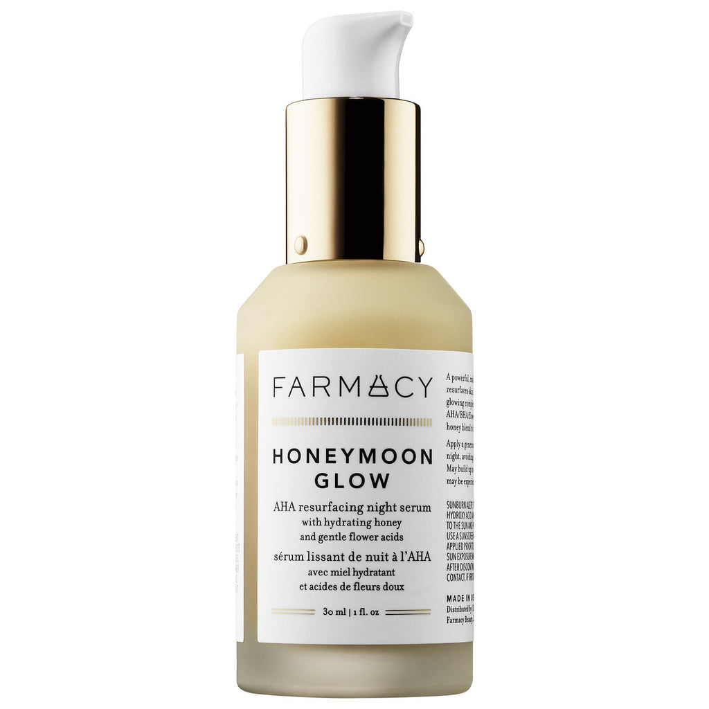 Farmacy HONEYMOON GLOW AHA Resurfacing Night Serum with Hydrating Honey + Gentle Flower Acids