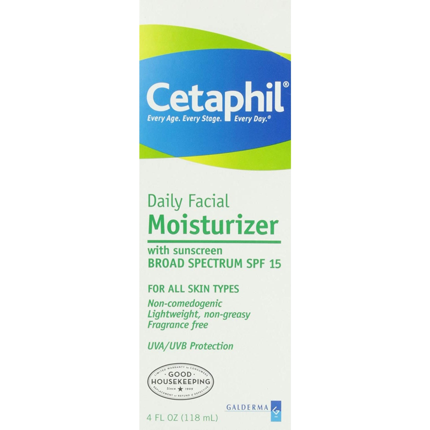 Cetaphil Daily Facial Moisturizer with Sunscreen Broad Spectrum SPF 15