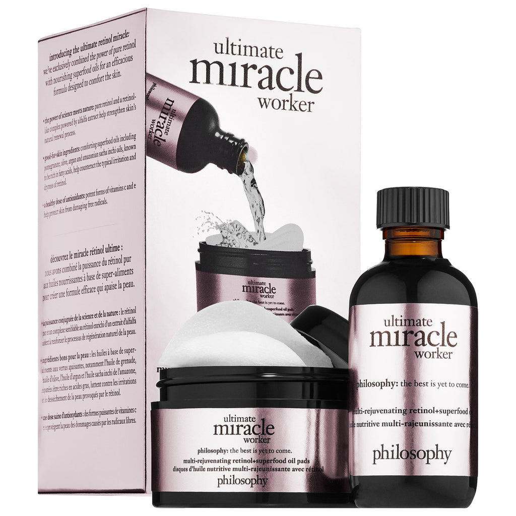 philosophy Ultimate Miracle Worker Multi-Rejuvenating Retinol + Superfood Oil and Pads
