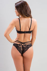 Strapped Brazilian Brief - Black