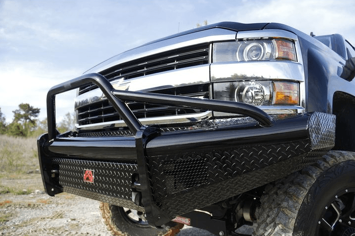 Fab Fours CH08-S2062-1 Chevy Silverado 2500/3500 HD 2007.5-2010 Black Steel Front Bumper Pre-Runner Guard - BumperStock